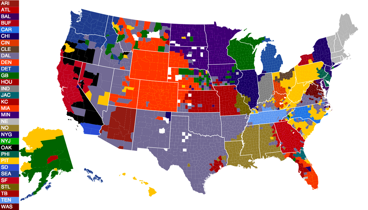 Raiders Must Make A Move To La Realclearsports - Map-of-sports-teams-in-us